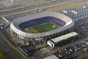 ROTTERDAM - Luchtfoto van De Kuip, het Feyenoord stadion. ANP BRAM VAN DE BIEZEN
