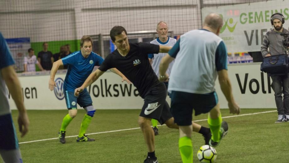 Wolfsburg Player Schafer Walking Football