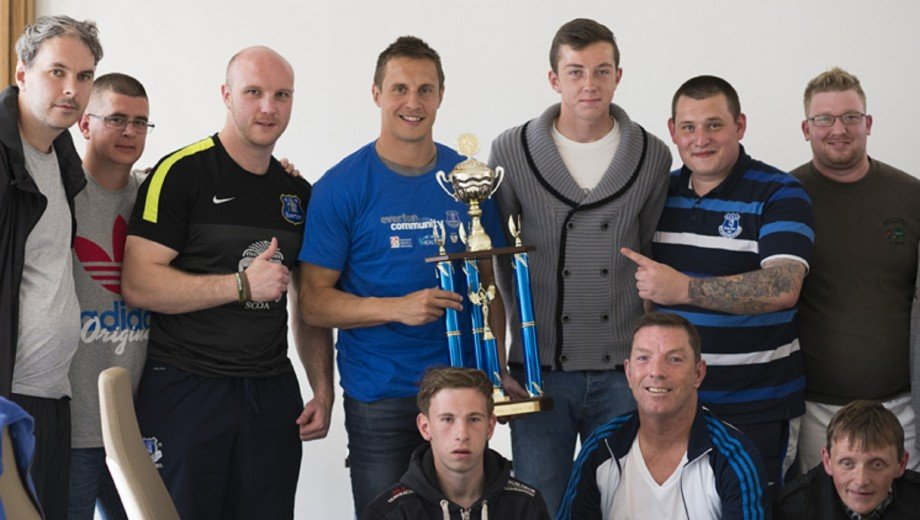 Soccer - Everton in the Community Event - Clock View Hospital