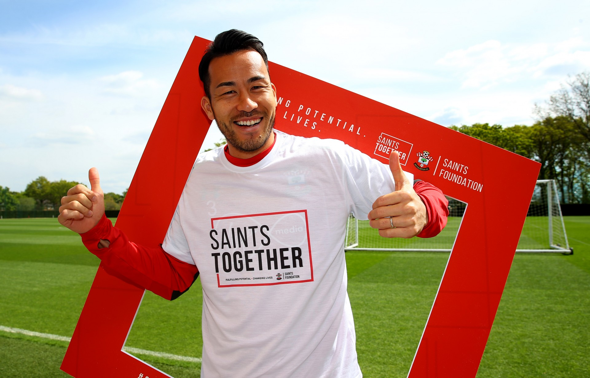 Maya Yoshida pictured for the Saints Foundation, at the Staplewood Campus, Southampton, 27th April 2017