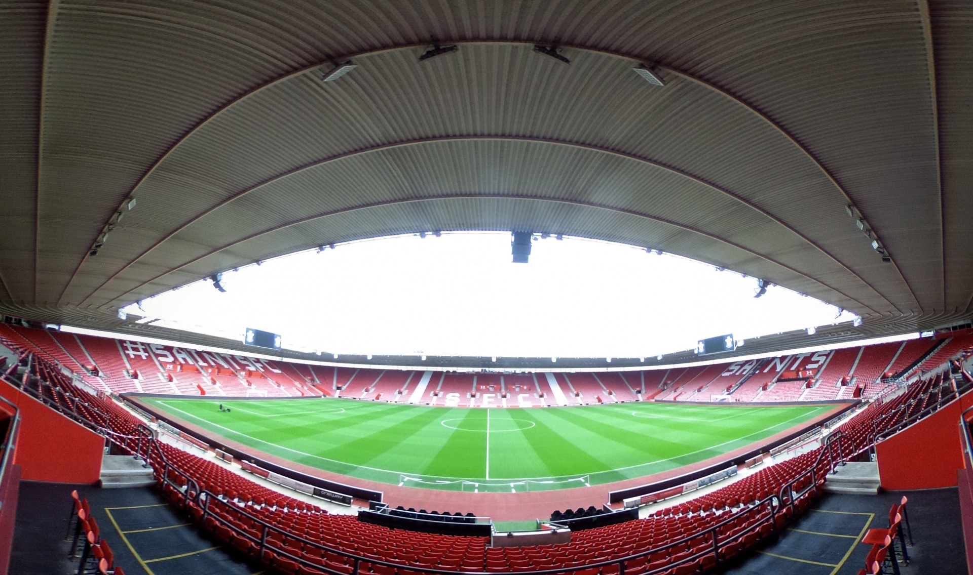 TEST Panoramic image of St Mary's Stadium, Southampton, 8th September 2017