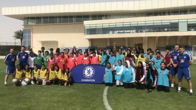 Chelsea delights youngsters in Doha