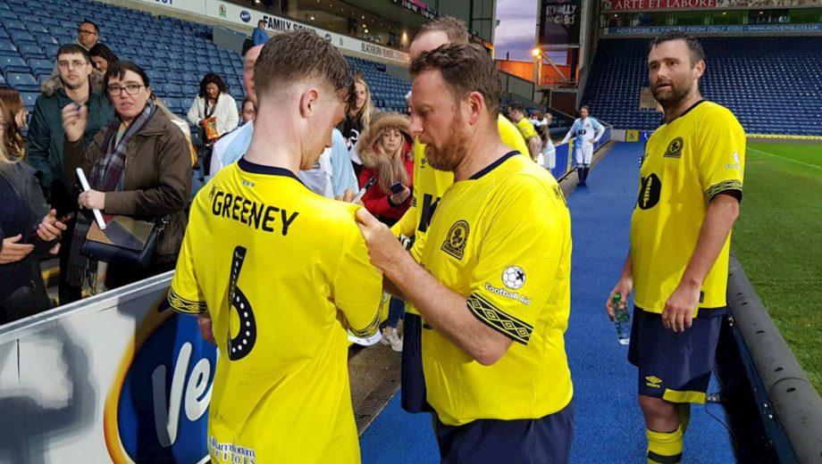 Kevin Gallagher and David Dunn at Blackburn Rovers Football Aid