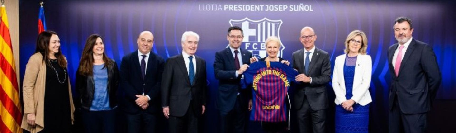 Barça Foundation and UNICEF report banner