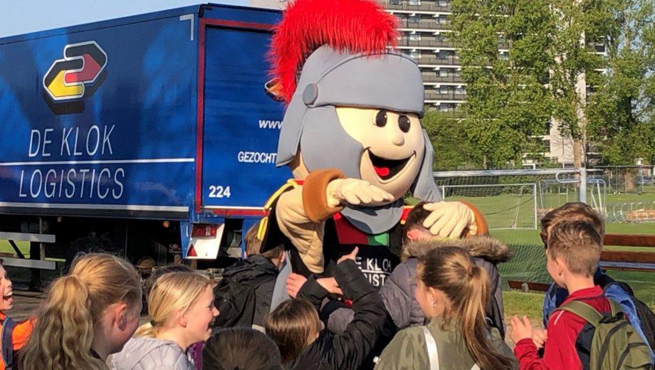 NEC Nijmegen mascot at score a book closing
