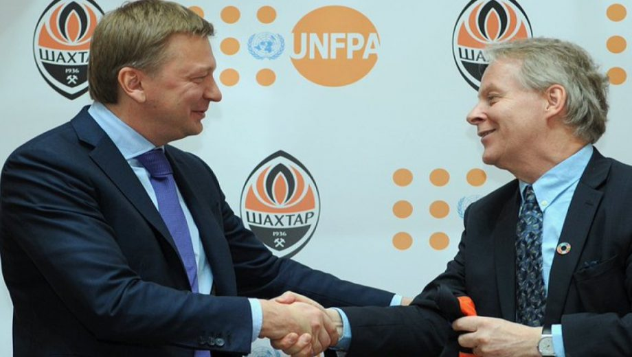 Header for Shakhtar & UNFPA extension