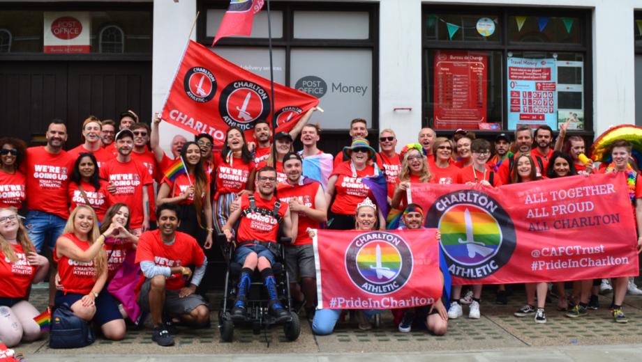 Charlton Athletic at Pride In London parade header